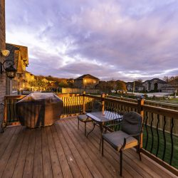 Deck at sunset
